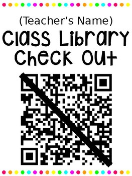 Class Library Check Out Posters with QR Codes