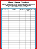 Class Library Checkout Sheet - Dr. Seuss Tribute Colors