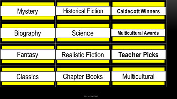 Class Library Labels - Bee Theme Colors
