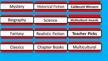 Class Library Labels - Dr. Seuss Tribute Colors