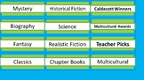 Class Library Labels - Lime & Teal - Updated