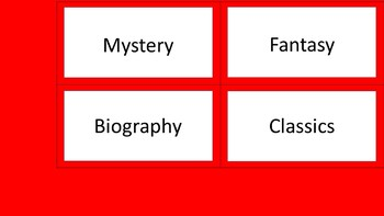Class Library Labels - Red & White