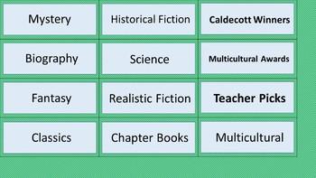 Class Library Labels - Sea Foam Diagonal Mini-Stripes