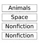 Class Library Labels to Organize Reading Bins