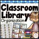 CLASSROOM LIBRARY ORGANIZATION EDITABLE {DOTS CLASSROOM DECOR}