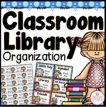 Classroom Library Organization - Editable {Dots Classroom Set}