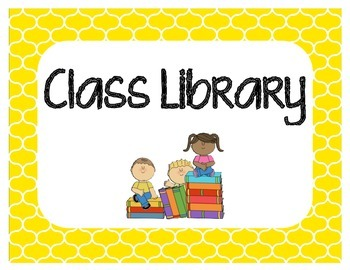 Classroom Library Sign