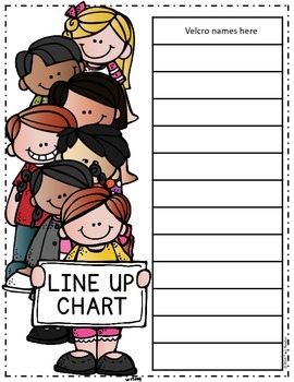 Class Line Up Chart {Freebie}
