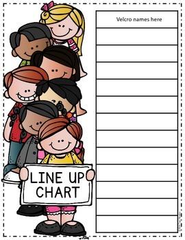 Class Line Up Chart {Freebie}