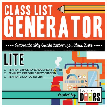 Class List Generator By Primary Prism  Teachers Pay Teachers