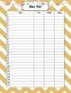Class List Assessment Sheets
