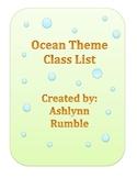 Class List Bundle - Ocean Theme