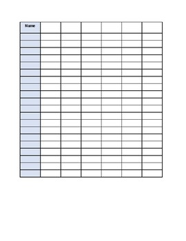 Lovely Class List Checklist Template