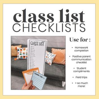 Class List Editable Checklist
