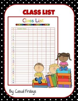 Class List Form