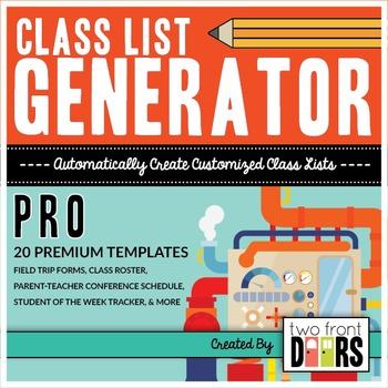 Class List Generator PRO by Primary Prism | Teachers Pay Teachers
