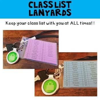 Class List Lanyards
