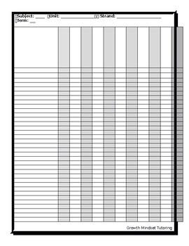 Class List Mark Tracking Template (Customizable)