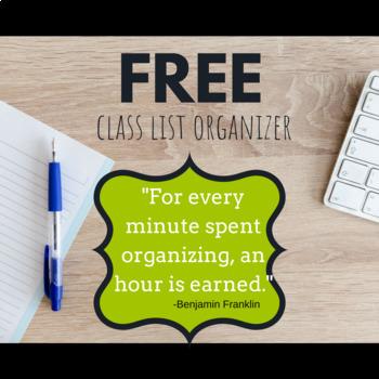Class List Organizer