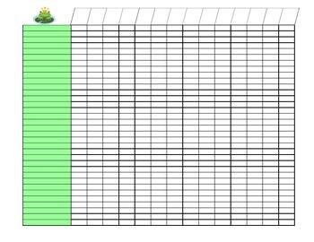 Class List Organizer {Frog Theme}