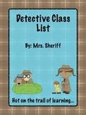 Class List Poster - Detective Theme {EDITABLE}
