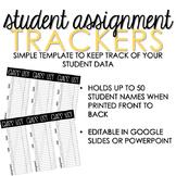 Editable Class List Roster - Student Gradebook Assignment Tracker