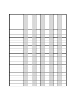 Class List Template