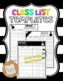 Class List Template *Customizable