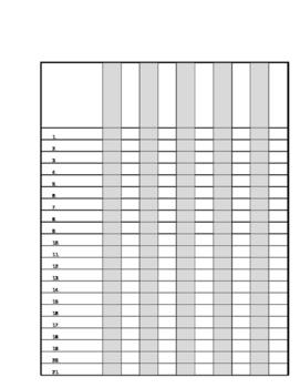 class list template word