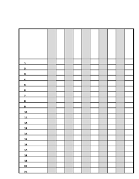 Class List Template - With Numbers
