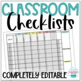 Class List Templates Checklists Distance Learning EDITABLE