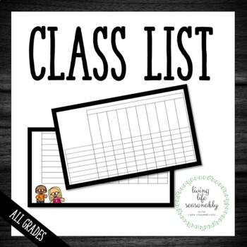 Class List Templates