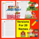 Class List Templates-20, 25 & 30 Names + 36 Monthly Themed Lists! 45 in All!