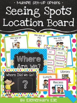 Class Location Board - Seeing Spots Theme {Bright and Polka Dot}