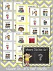 Class Location Board - Sweet and Sunny Theme {Yellow and Grey}