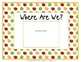 "Class Location Cards ""Where Are We?"" Apple Theme"