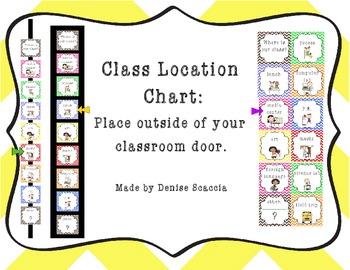 Class Location Chart