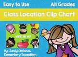 Class Location Clip Chart