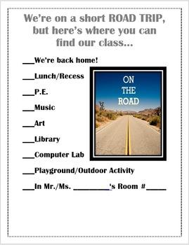 Class Locator Chart: Adventure Themed