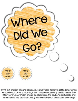 """Where Are We?"" Clip Chart Sign with EDITABLE Pages --- Owl-Themed Class Locator"