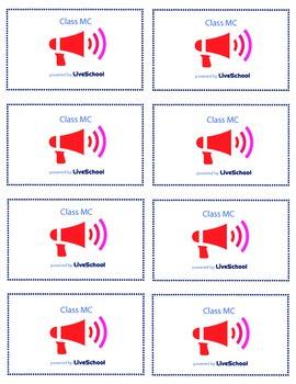 Class MC Reward Cards