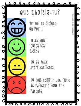Class Management Bundle (French) - La Gestion de classe
