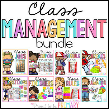 Classroom Management: Class Jobs, Reward Coupons, Transitions, Brain Breaks+
