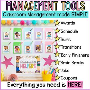 Classroom Management Bundle: Class Jobs, Coupons, Transitions, Brain Breaks +