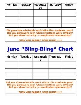 Class Management Chart:  Bling