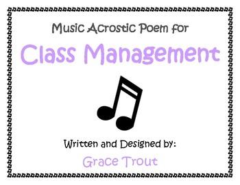Class Management MUSIC Poem Color
