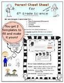 Class Management - Parent Cheat Sheet