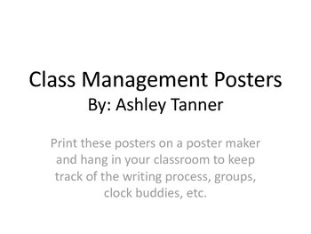 Class Management Posters