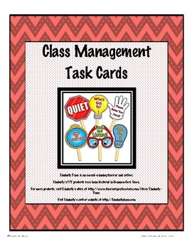 Class Management Task Cards
