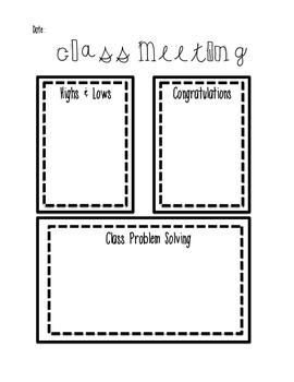 Class Meeting Ideas